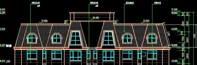 用广联达gcl2008怎么样算高层不规则斜屋顶斜面面积图片
