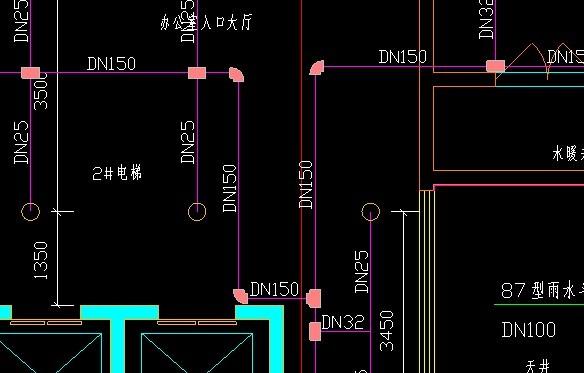 识别天正3图纸后没有后的图纸出来导入标示lele牌将积木管线图片