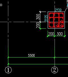 CAD轴线尺寸尺寸与构建比例图纸不a轴线怎么认图纸水渠图片