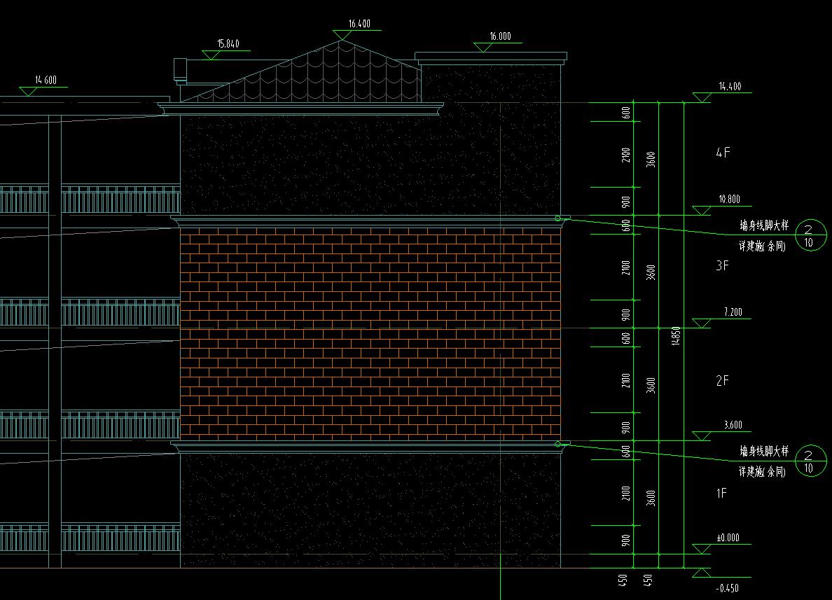檐高不太滴水是确定线还是檐口高度板顶图纸起源大地高度的图片