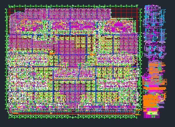 CAD图纸图片分层在一起,导入重叠转图纸将成cad多张图片